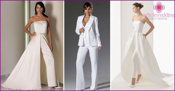 Women's pantsuit for the bride