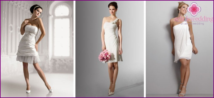 Short bridal cocktail dress