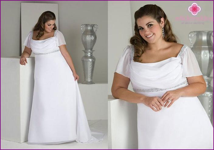 Large white wedding attire
