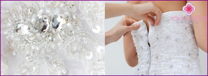 Corset with stones and Swarovski crystals