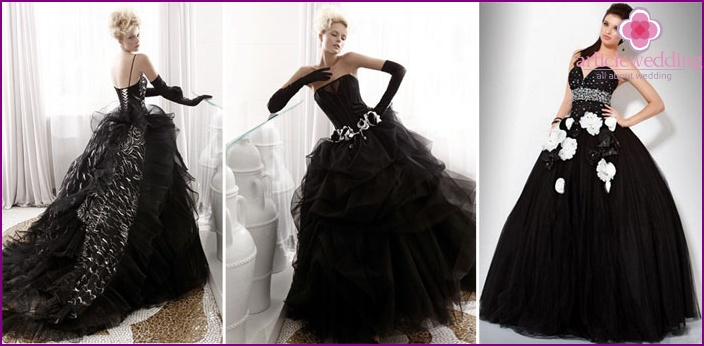 Full skirt for a wedding