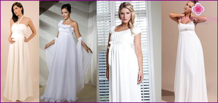 Mutterschaft Brautkleider: Hohe Taille