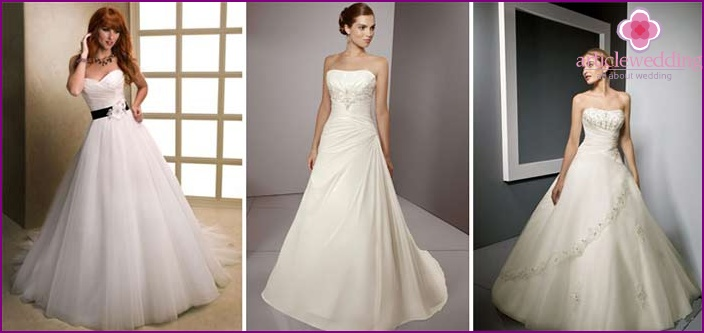 A-line bride's outfit