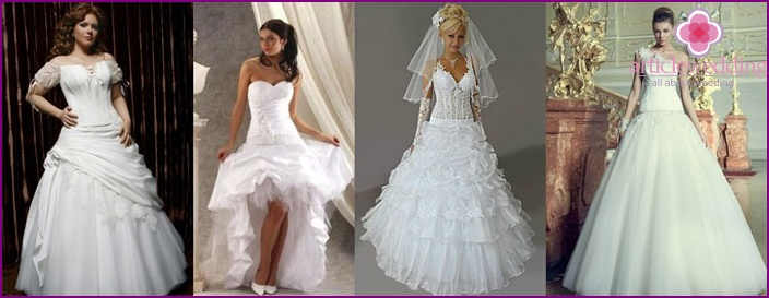 Photos of wedding dresses for pregnant brides with low waist