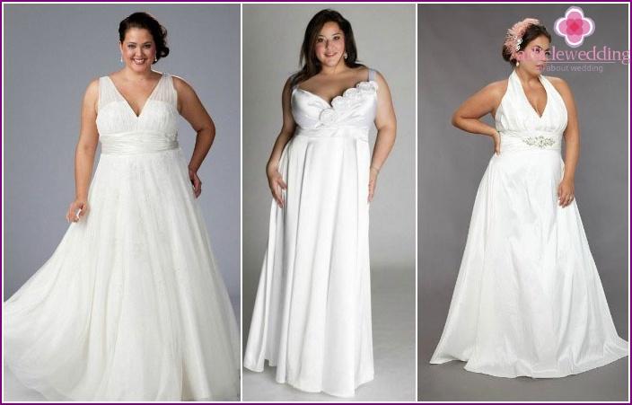 Greek styles for full brides