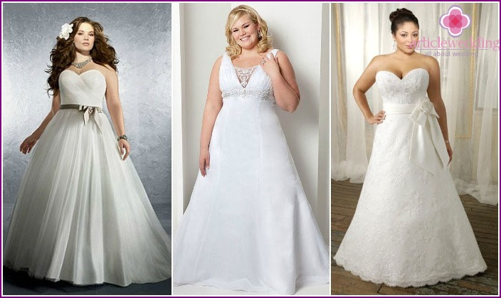 Wedding dress-a-line to a full bride