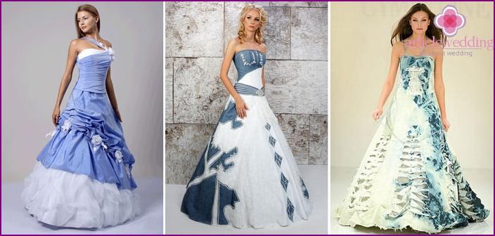 Denim style wedding wear