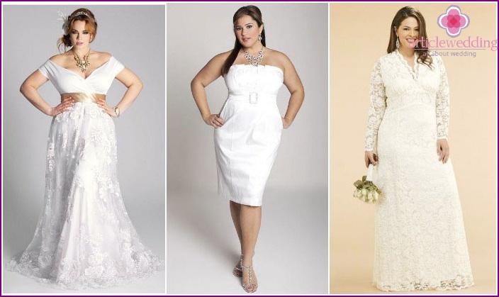 High waistline for full brides