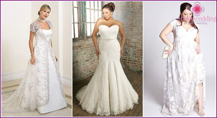 Lace dresses to full brides