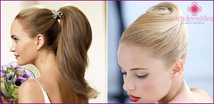 Smooth wedding hairstyle