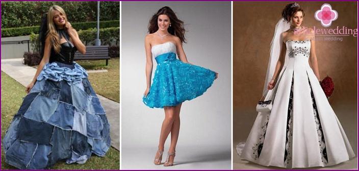 Denim wedding dresses 2015