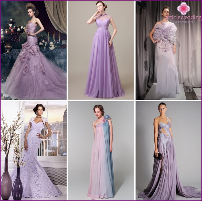 Gray-purple model is suitable for any style of wedding