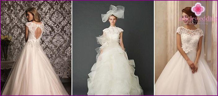 Turvonnut sifonki mekko morsiamen