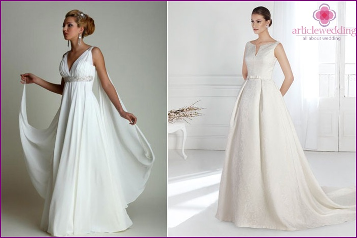 Wedding dress of the bride