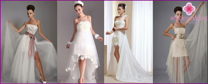 Short Straight Bodycon Wedding Dress