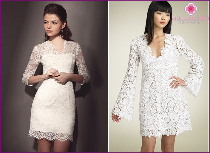 With lace sleeves