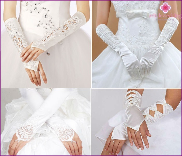Long gloves for the wedding