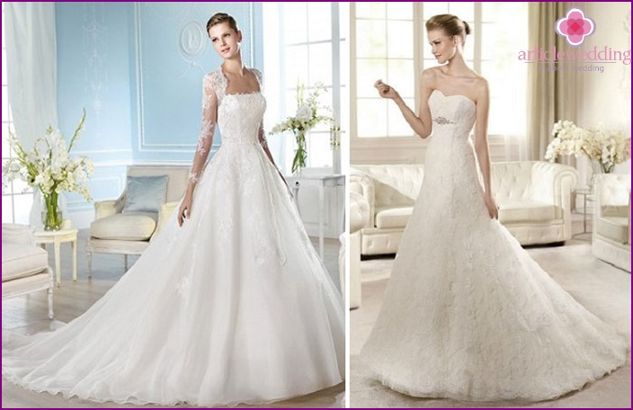 Classic A-line Wedding Dresses
