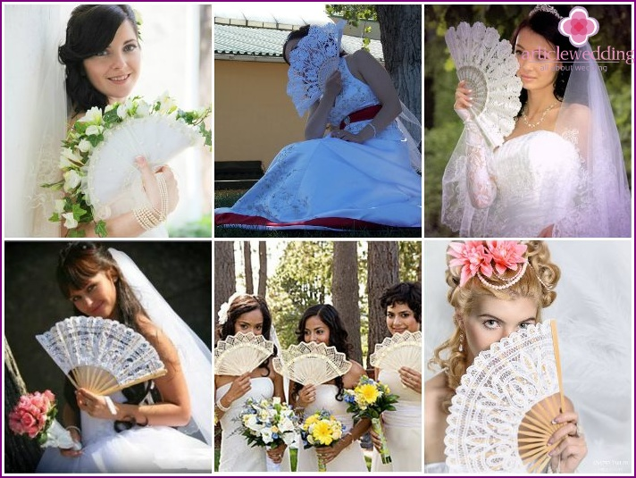 Wedding photos with fans