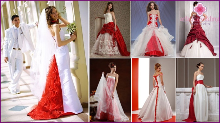 Red and White Wedding Outfit