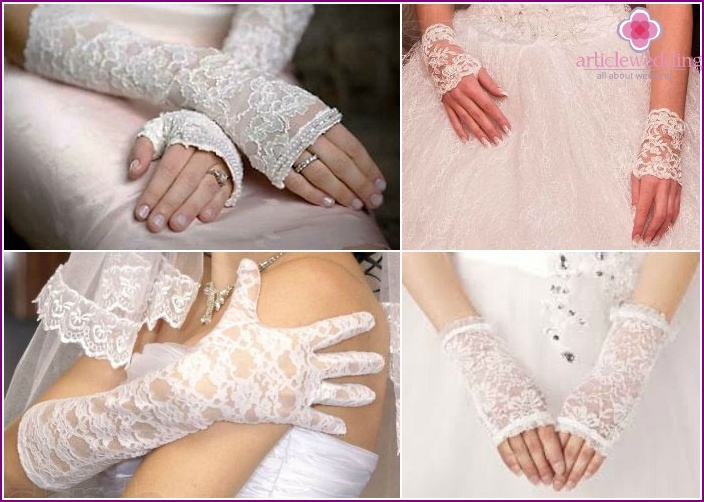 Lace gloves for the wedding