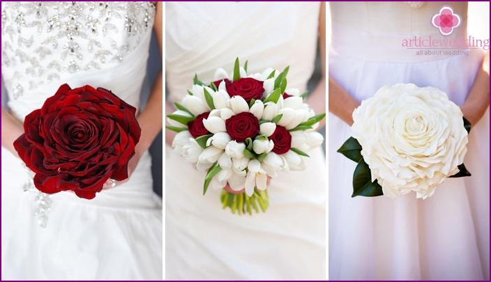 Hochzeits-Brautstrauß: Weiß oder Rot