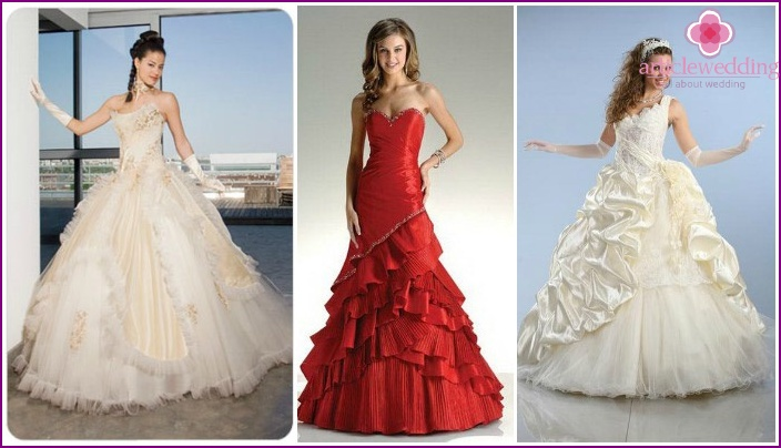 Fashionable colored dresses