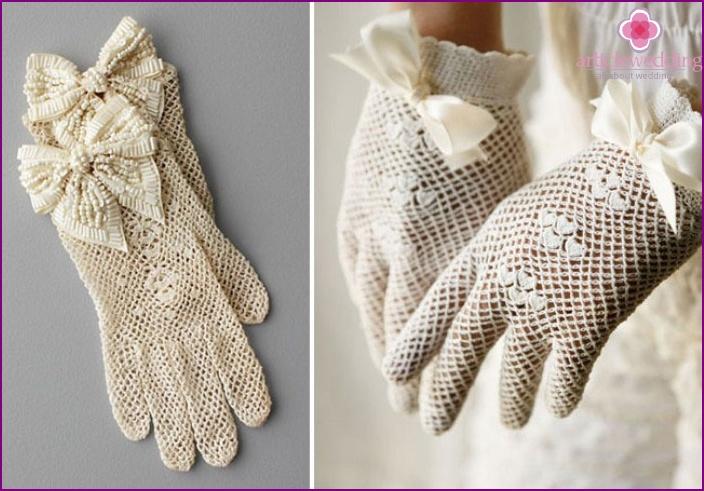 Fishnet Wedding Gloves