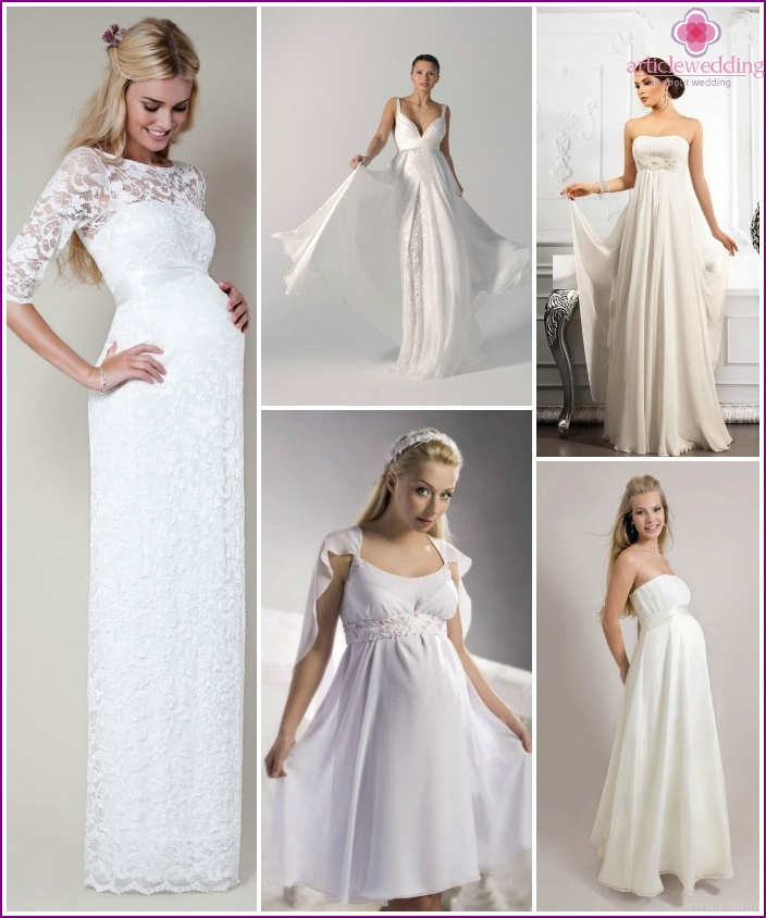 Wedding styles for pregnant brides