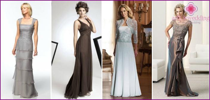 Lange elegante Brautkleider für Mütter