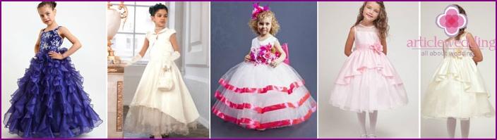 Elegante Kleider für kleine Mädchen