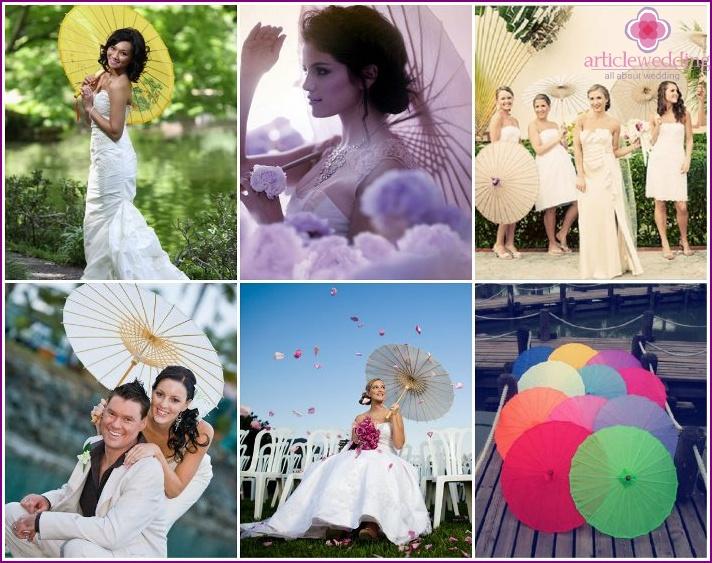 Chinese style wedding umbrella