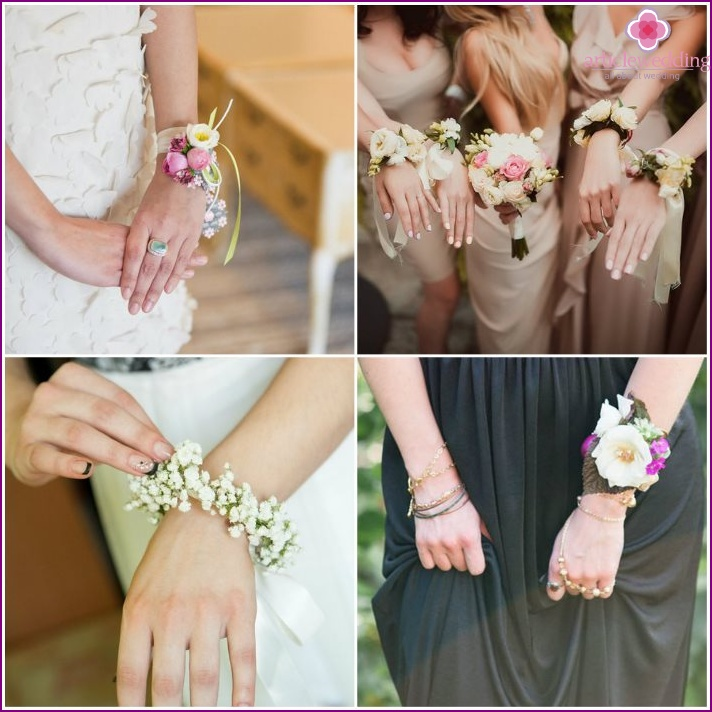 Boutonniere with artificial flowers