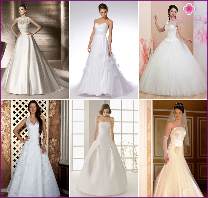 A-förmige Hochzeitskleidung