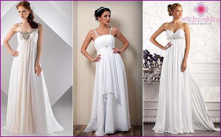 Empire Style Simple Bridesmaid Dress