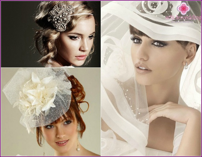 Photo of jewelry for the hair of the bride