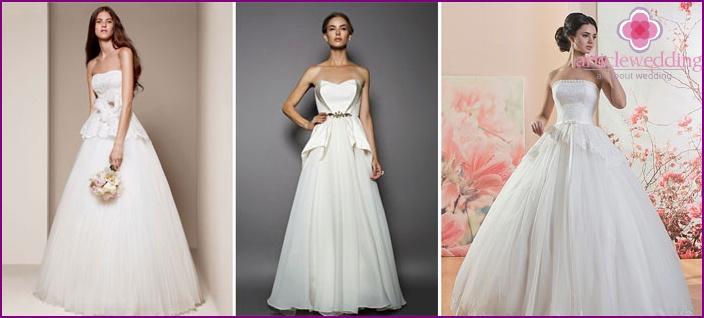 A puffy peplum dress for a wedding