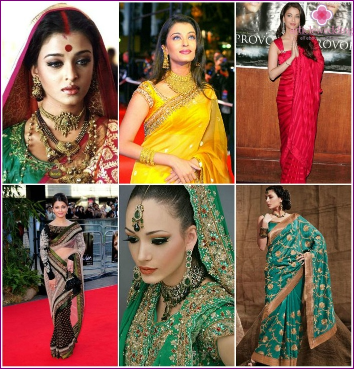 Images of brides in festive sarees