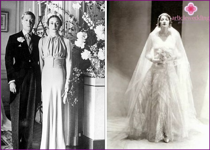 Models of Coco Chanel outfits for the bride