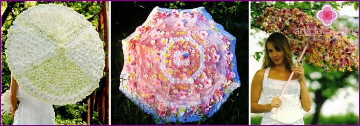 Flower umbrella for the bride