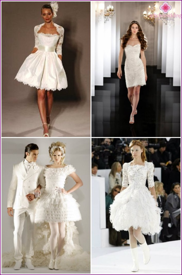 Short Wedding Dresses by Chanel