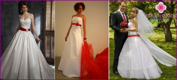 Ribbon Placements on a Wedding Dress