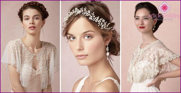 Pearls in newlywed wedding accessories