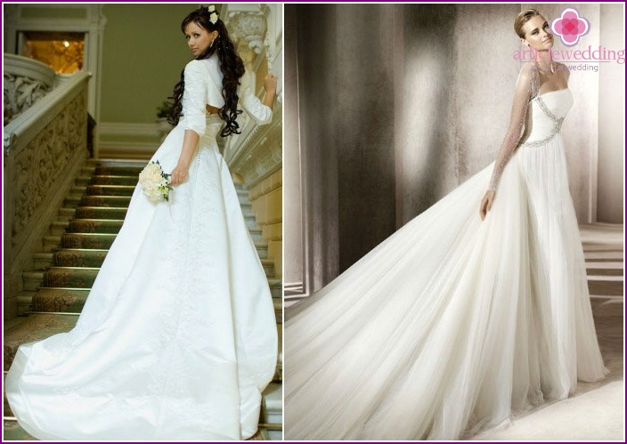 Materials for train wedding dresses