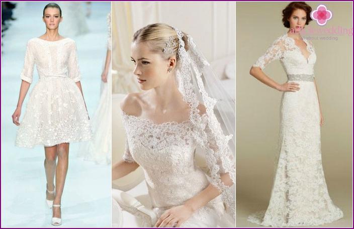 Hochzeitskleidung: Ärmel bis zum Ellbogen