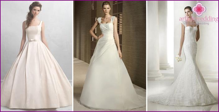 Dresses for the bride with shoulder straps