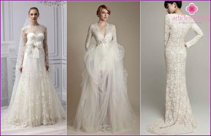 Langarm Brautjungfernkleider