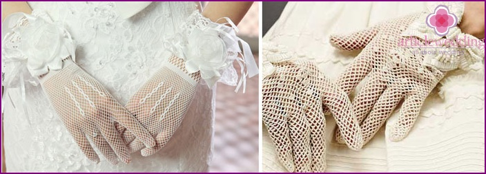 Openwork gloves - a delicate decoration for the bride