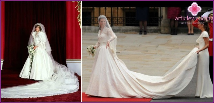 Famous wedding dresses with trains