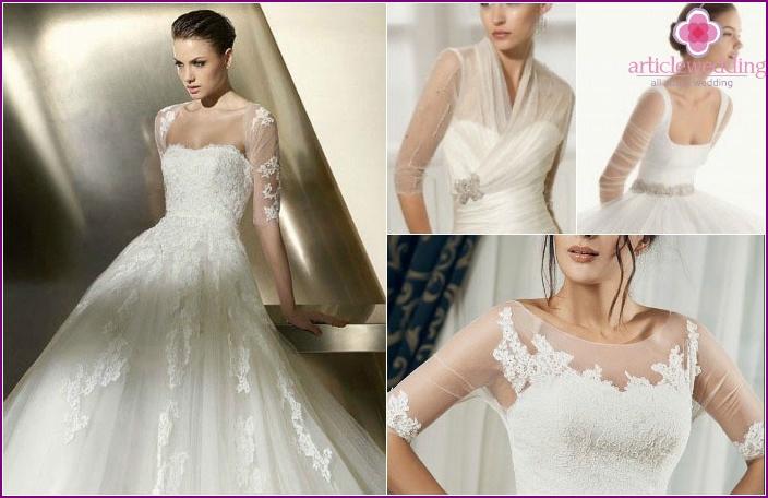 Transparente Illusionsärmel im Hochzeitskleid